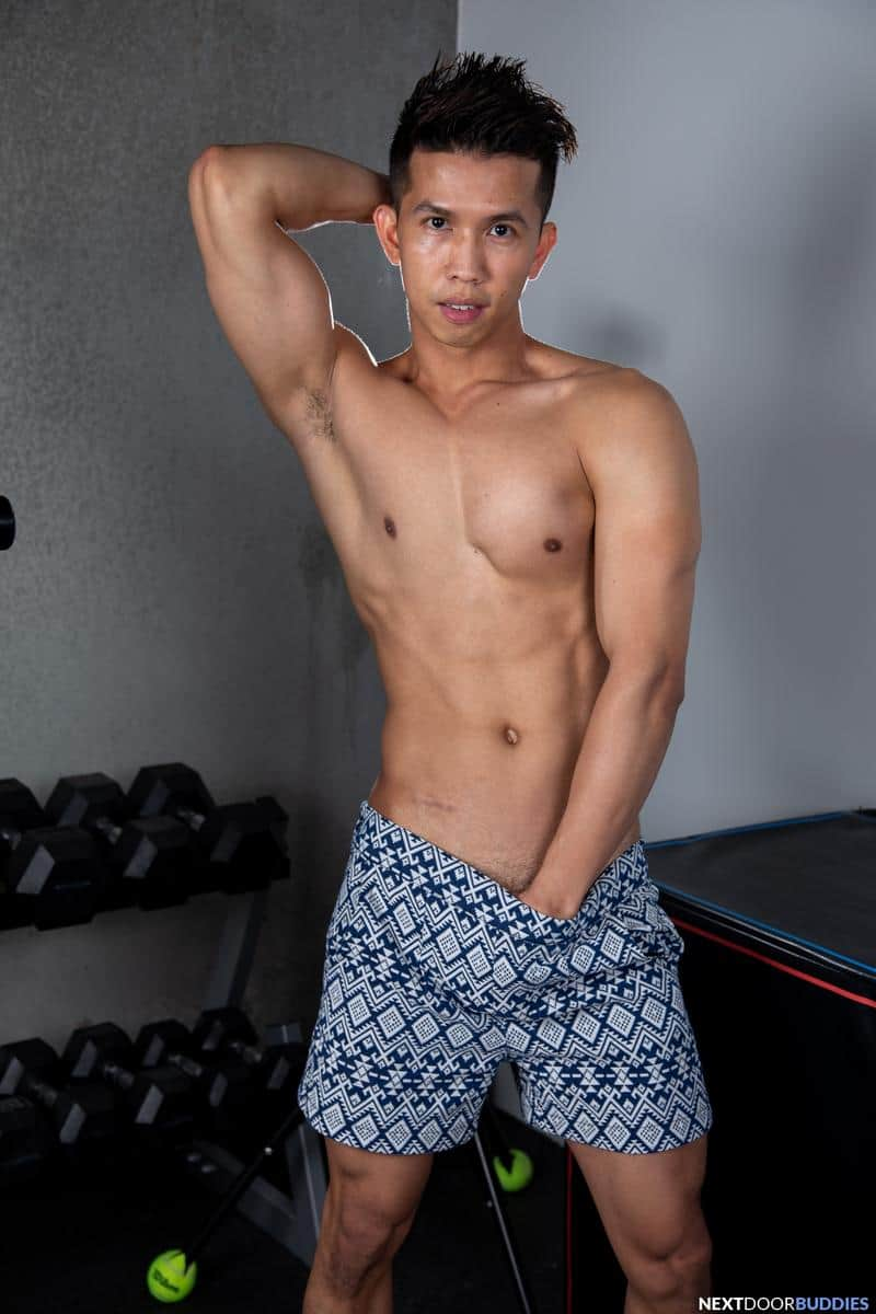 Gym studs ripped muscle dude Shane Cook huge thick dick bareback fucking young Asian Levy Foxx 2 gay porn pics - Gym studs ripped muscle dude Shane Cook's huge thick dick bareback fucking young Asian Levy Foxx