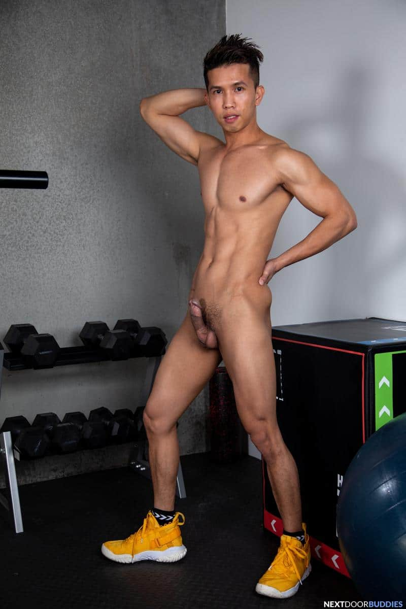 Gym studs ripped muscle dude Shane Cook huge thick dick bareback fucking young Asian Levy Foxx 3 gay porn pics - Gym studs ripped muscle dude Shane Cook's huge thick dick bareback fucking young Asian Levy Foxx