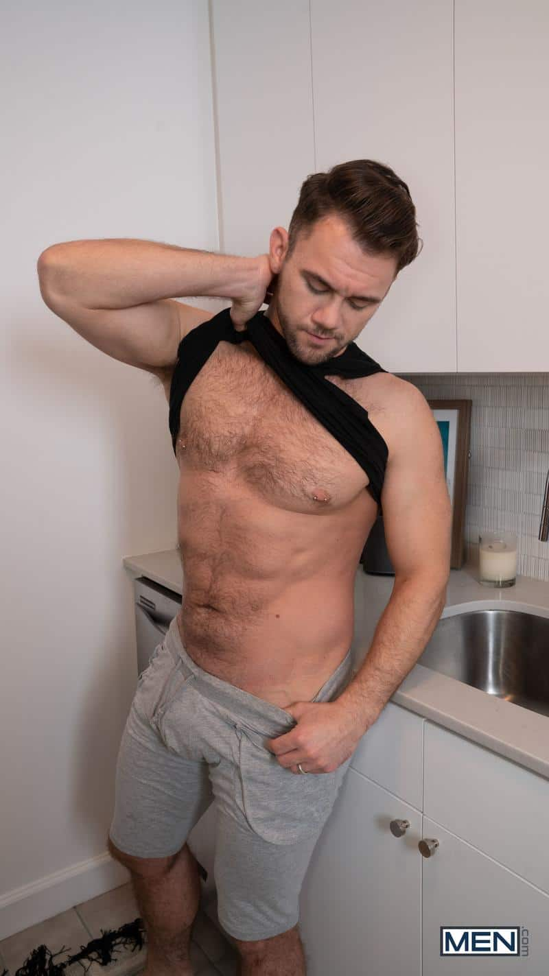 Hairy chested hunk Blaze Austin bottoms young smooth stud Aiden Ward huge thick raw dick 8 gay porn pics - Hairy chested hunk Blaze Austin's bottoms for young smooth stud Aiden Ward's huge thick raw dick